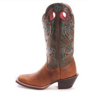 Tony Lama 3R Square Toe Buckaroo Cowboy Boot 8.5